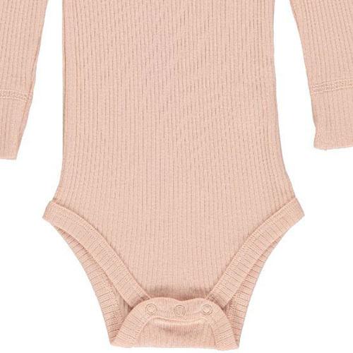 MarMar Copenhagen Baby Girl Modal Body LS Rose (Romper)-3