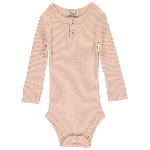 MarMar Copenhagen Baby Girl Modal Body LS Rose (Romper)-1