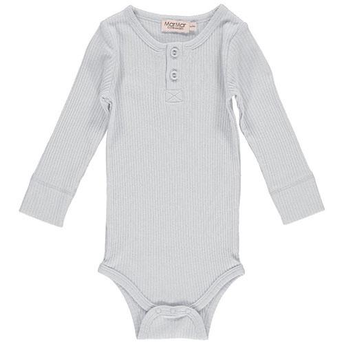 MarMar Copenhagen Baby Unisex Modal Body LS Pale Blue (Romper)-1