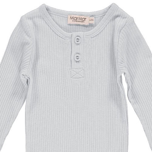 MarMar Copenhagen Baby Unisex Modal Body LS Pale Blue (Romper)-2
