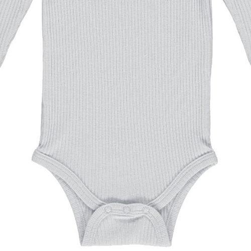 MarMar Copenhagen Baby Unisex Modal Body LS Pale Blue (Romper)-3