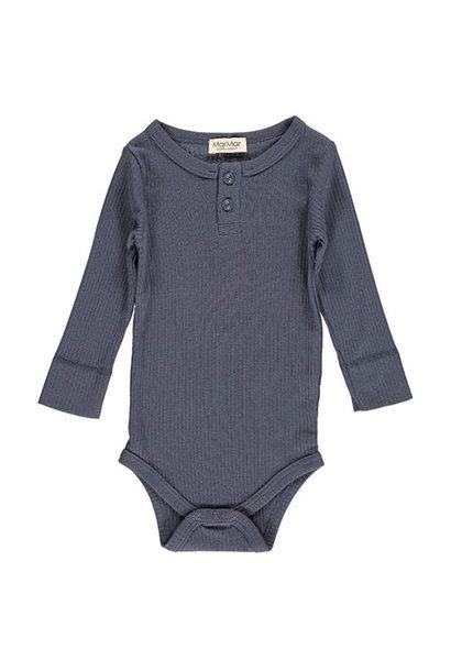 MarMar Copenhagen Baby Unisex Modal Body LS Blue (Romper)