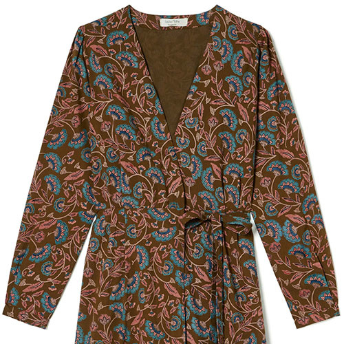 Louise Misha Woman Dress Anouchka Bronze Folk Flowers (Jurk)-7