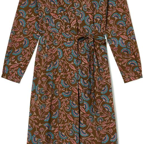 Louise Misha Woman Dress Anouchka Bronze Folk Flowers (Jurk)-8