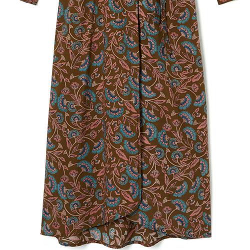 Louise Misha Woman Dress Anouchka Bronze Folk Flowers (Jurk)-9
