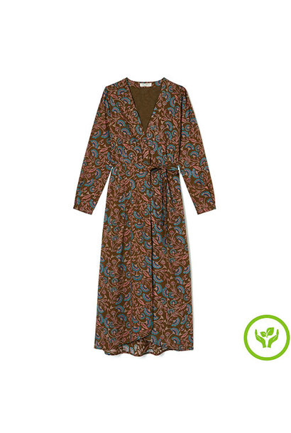 Louise Misha Woman Dress Anouchka Bronze Folk Flowers (Jurk)