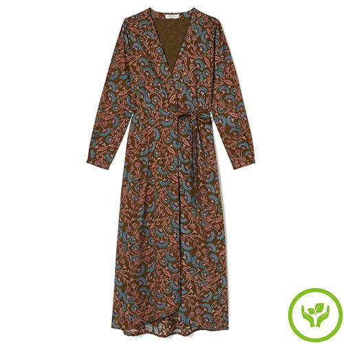 Louise Misha Woman Dress Anouchka Bronze Folk Flowers (Jurk)-1