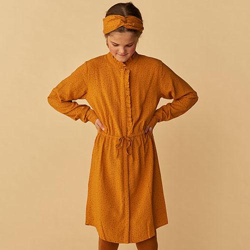 Soft Gallery Electa Dress Inca Gold AOP Trio Dotties (Jurk)-2