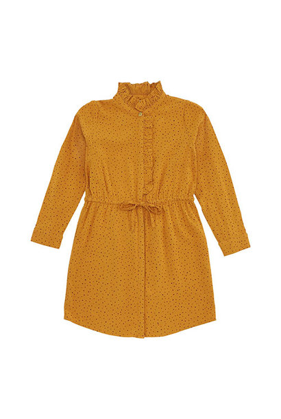 Soft Gallery Electa Dress Inca Gold AOP Trio Dotties (Jurk)