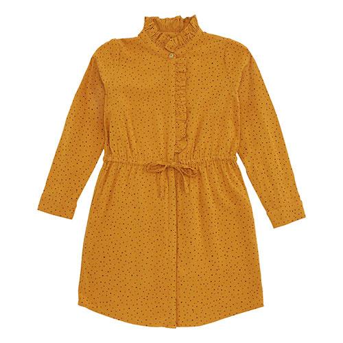 Soft Gallery Electa Dress Inca Gold AOP Trio Dotties (Jurk)-1