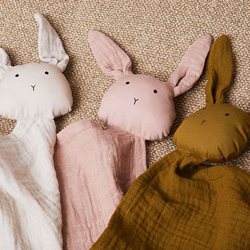 Liewood Robbie Multi Muslin Cloth Rabbit Olive Green (Knuffeldoekje)-2