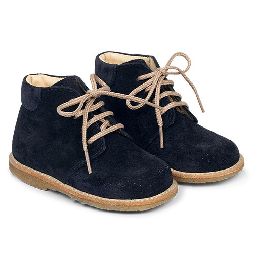 Angulus Starter Shoe with Laces and Hole Pattern navy blue / donker blauw (Schoenen)-1