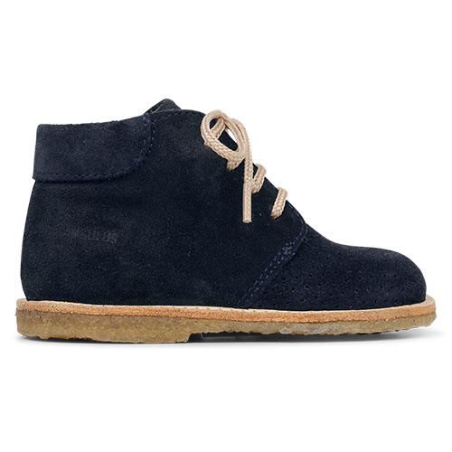 Angulus Starter Shoe with Laces and Hole Pattern navy blue / donker blauw (Schoenen)-4