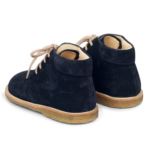 Angulus Starter Shoe with Laces and Hole Pattern navy blue / donker blauw (Schoenen)-5