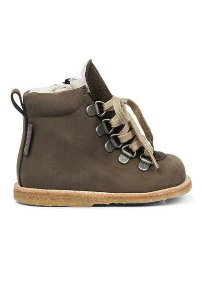 Angulus Starter Boot with Laces and Zipper dark olive / olijf groen (Schoenen)