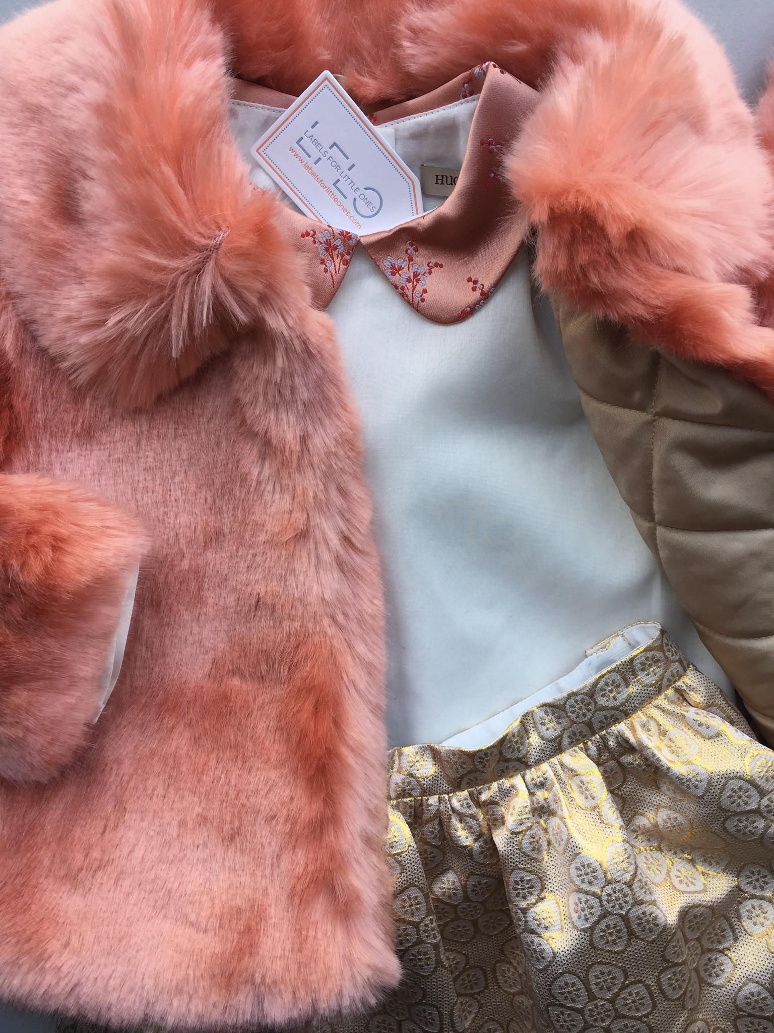 Hucklebones London Faux Fur Jacket Milkshake (Jas)-5