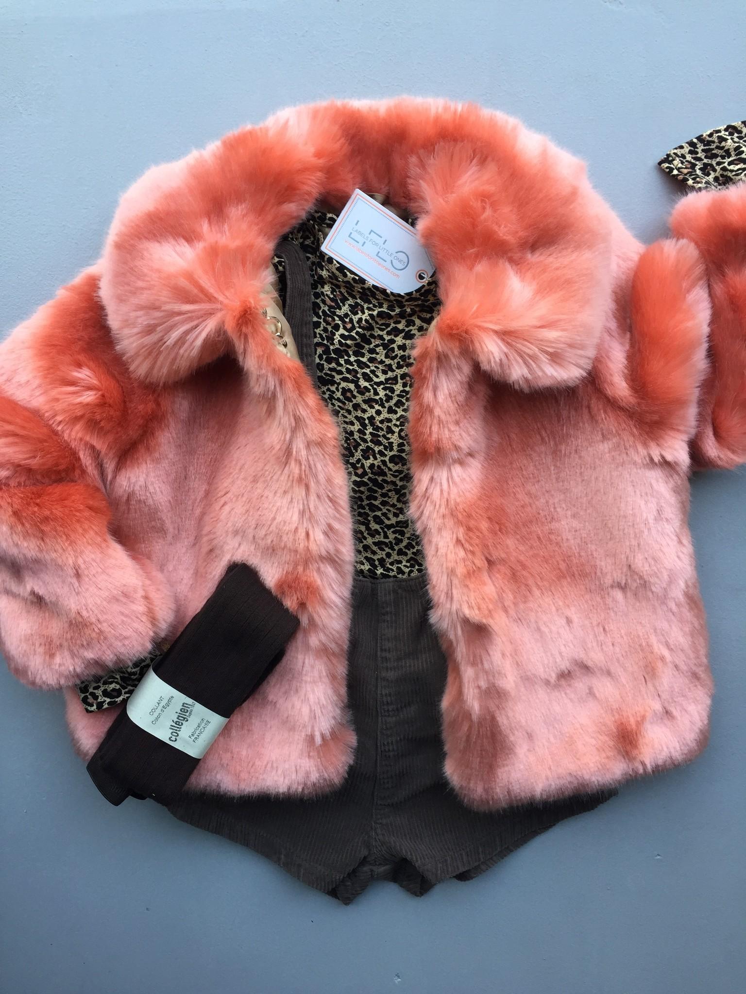 Hucklebones London Faux Fur Jacket Milkshake (Jas)-3