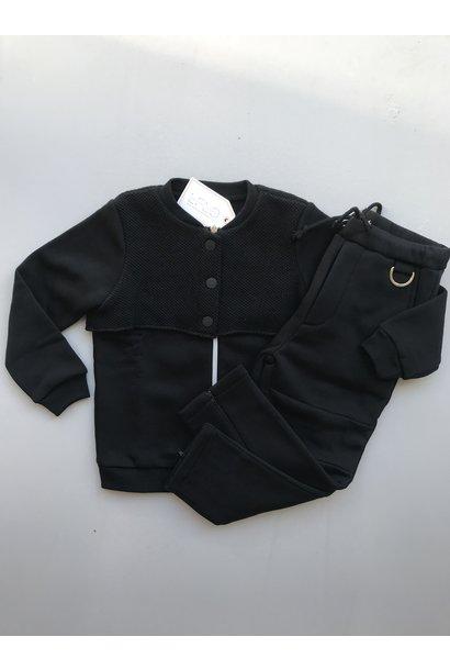 i leoncini Black Bomber Jacket (Jas)
