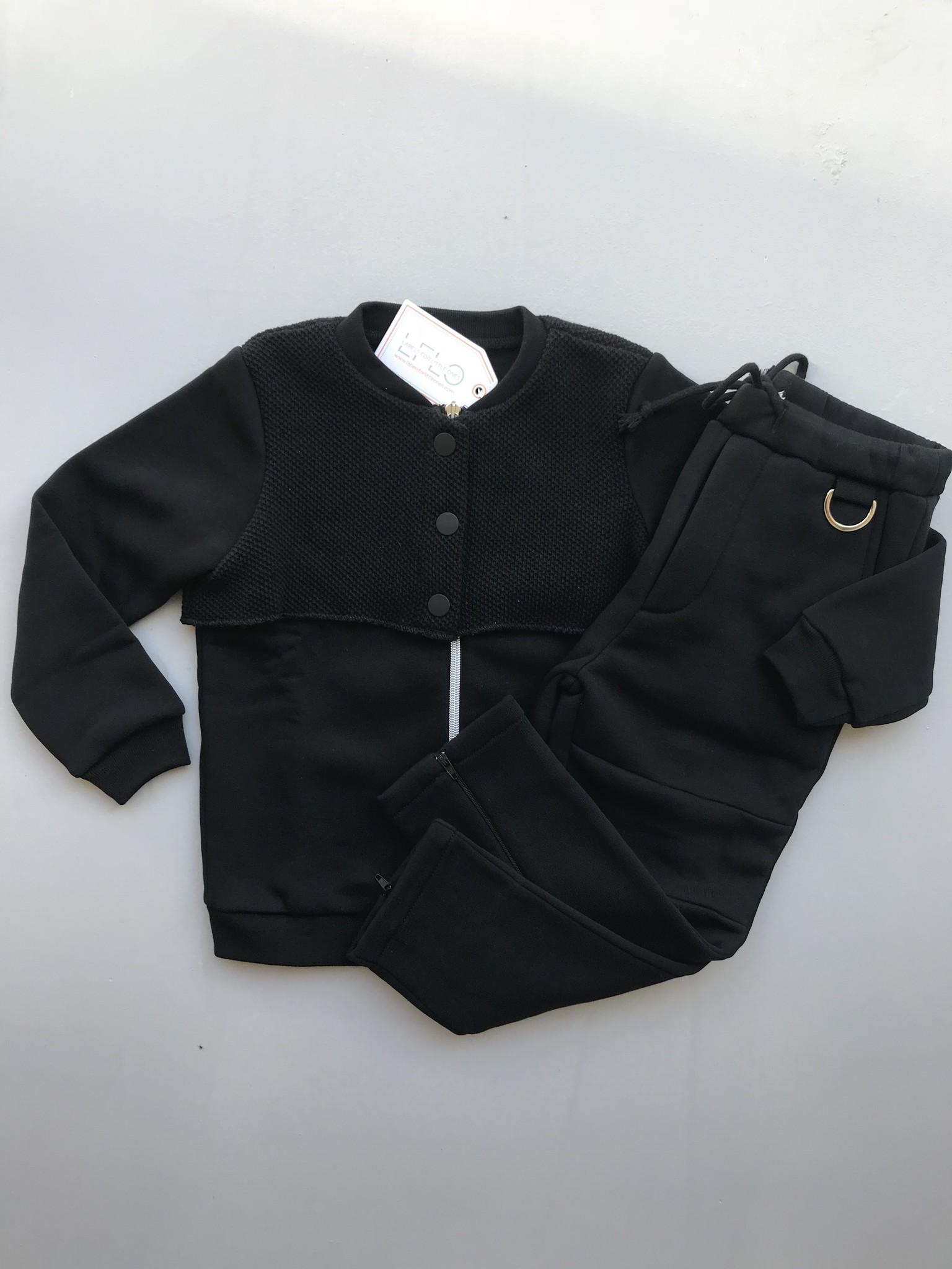 i leoncini Black Bomber Jacket (Jas)-1