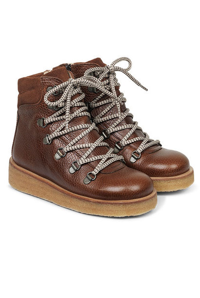 Angulus Boot with Zipper, Laces and D-Rings cognac / bruin (Veterschoenen)