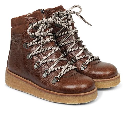 Angulus Boot with Zipper, Laces and D-Rings cognac / bruin (Veterschoenen)-1