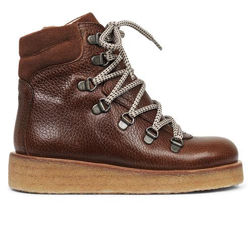 Angulus Boot with Zipper, Laces and D-Rings cognac / bruin (Veterschoenen)-2