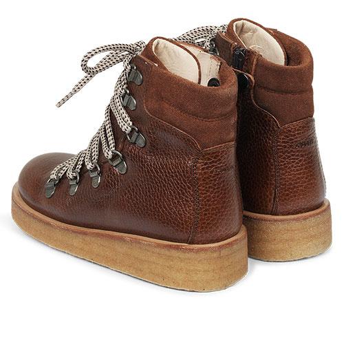 Angulus Boot with Zipper, Laces and D-Rings cognac / bruin (Veterschoenen)-3