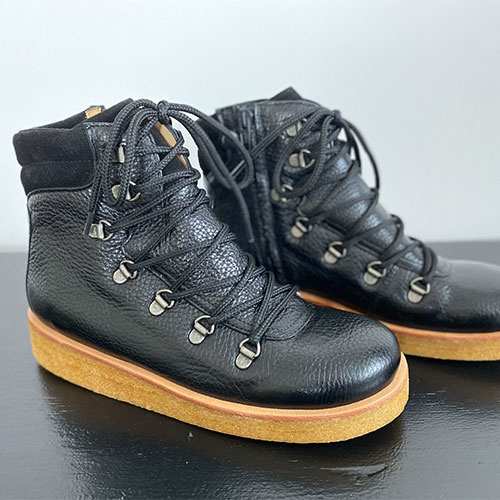 Angulus Boot with Zipper, Laces and D-Rings black / zwart (Veterschoenen)-3