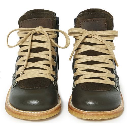 Angulus Lace-up TEX Boot with Zipper and D-Rings dark olive / olijf groen (Veterschoen)-3