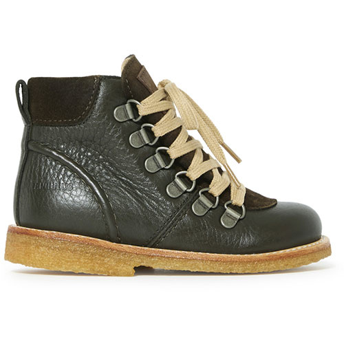 Angulus Lace-up TEX Boot with Zipper and D-Rings dark olive / olijf groen (Veterschoen)-2