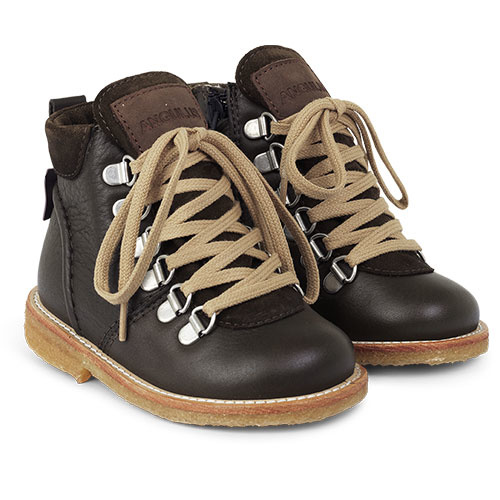 Angulus Lace-up TEX Boot with Zipper and D-Rings dark olive / olijf groen (Veterschoen)-1