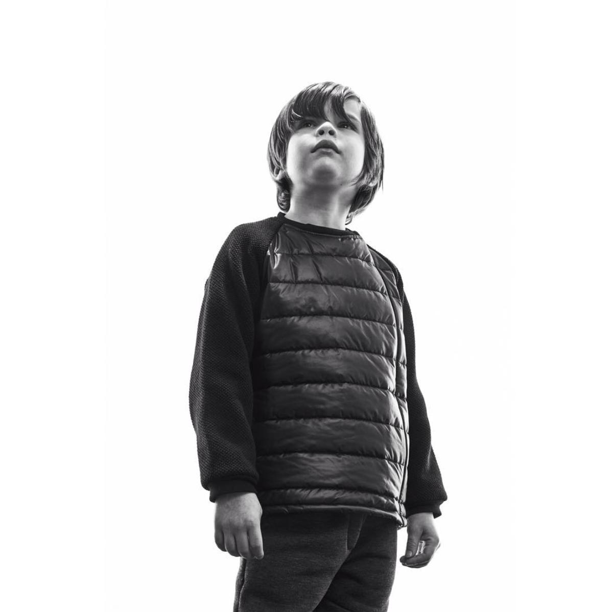 i leoncini Boy Jacket Black (Jas)-6