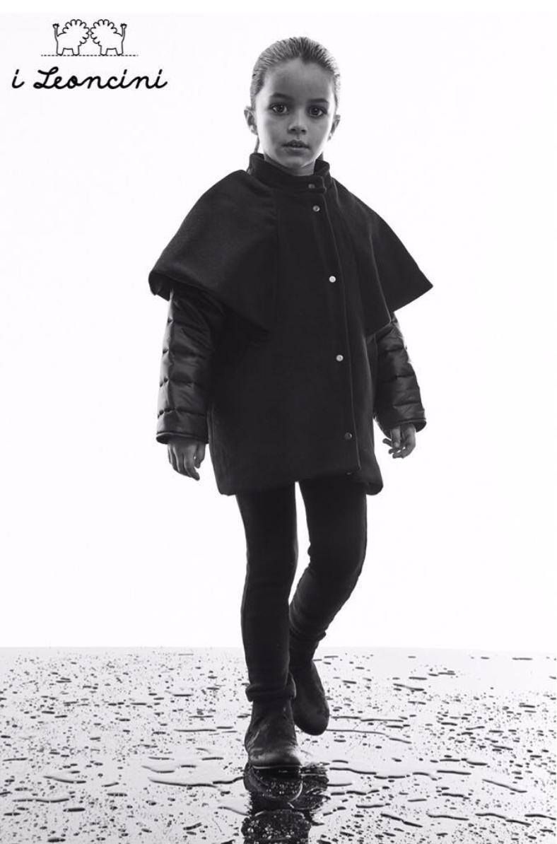 i leoncini Girl Jacket Black (Jas)-2
