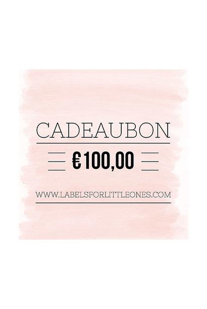 Cadeaubon €100 // Labels for Little Ones