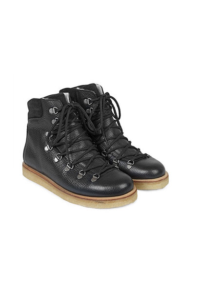Angulus Boot with Zipper, Laces and D-Rings black / zwart (Veterschoenen)