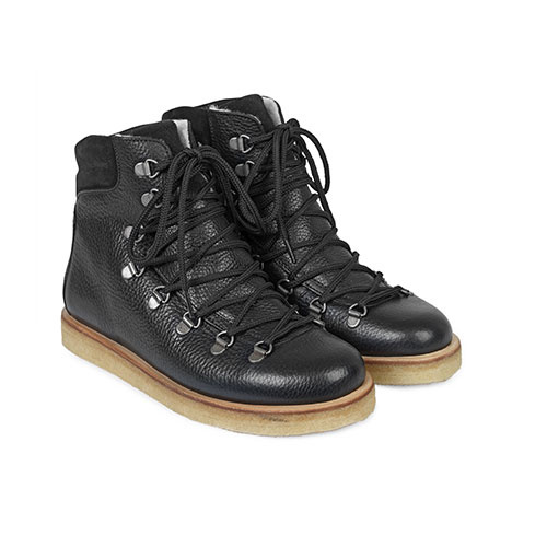 Angulus Boot with Zipper, Laces and D-Rings black / zwart (Veterschoenen)-1