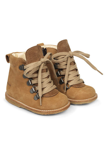 Angulus Starter Boot with Laces and Zipper camel tan / licht bruin (Schoenen)