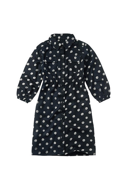Sproet & Sprout Midi Dress Polka Dots Black (Jurk)