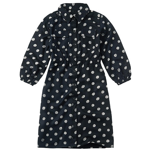 Sproet & Sprout Midi Dress Polka Dots Black (Jurk)-1