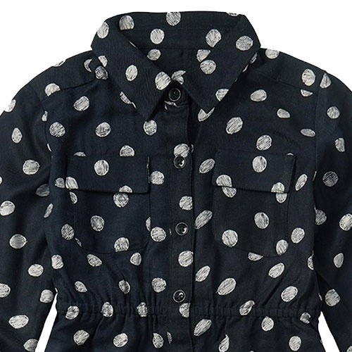 Sproet & Sprout Midi Dress Polka Dots Black (Jurk)-4