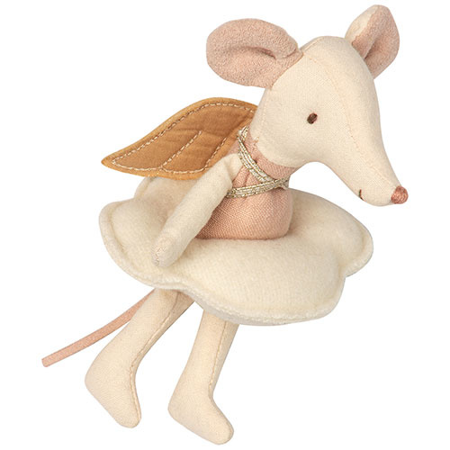 Maileg Angel mouse, big sister in book (muis)-3