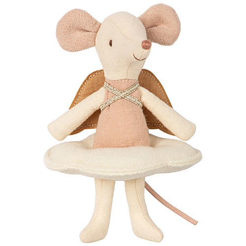 Maileg Angel mouse, big sister in book (muis)-4