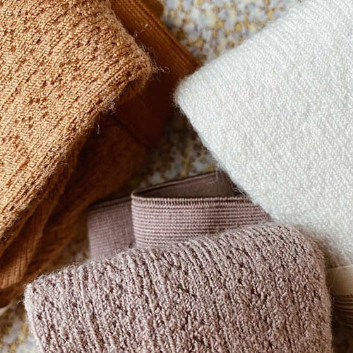Collegien Collants Angelique maille ajouree laine Merinos Doux Agneaux (Maillot)-2