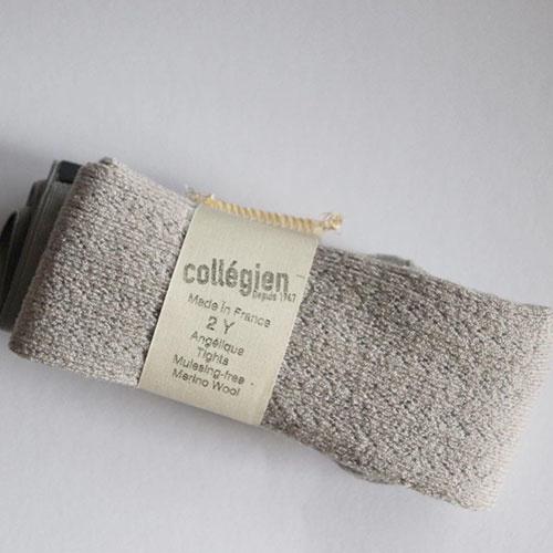Collegien Collants Angelique maille ajouree laine Merinos Doux Agneaux (Maillot)-4