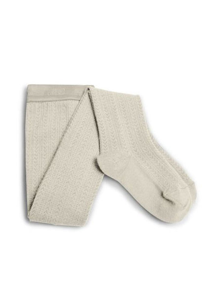 Collegien Collants Angelique maille ajouree laine Merinos Doux Agneaux (Maillot)