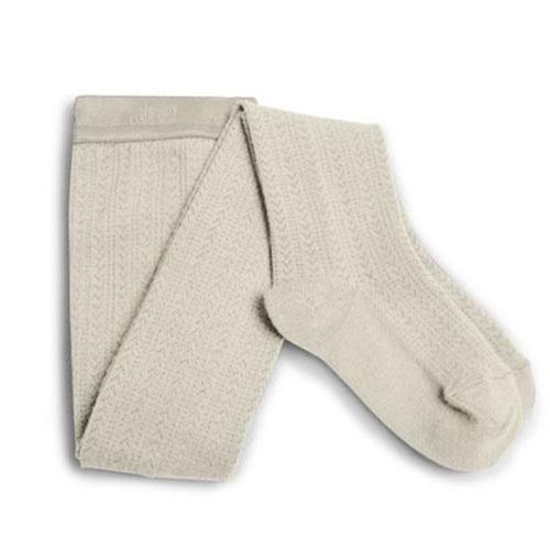 Collegien Collants Angelique maille ajouree laine Merinos Doux Agneaux (Maillot)-1