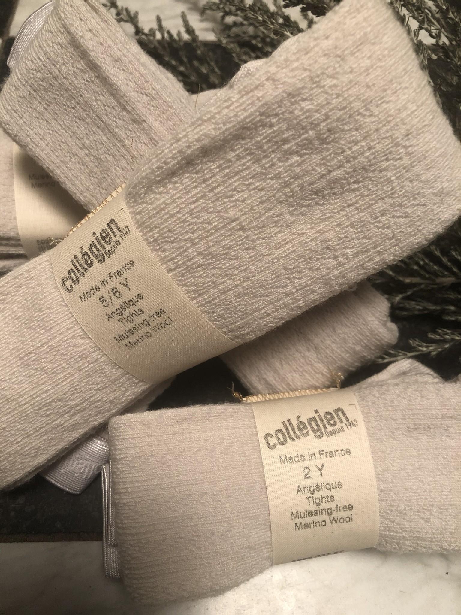 Collegien Collants Angelique maille ajouree laine Merinos Doux Agneaux (Maillot)-3
