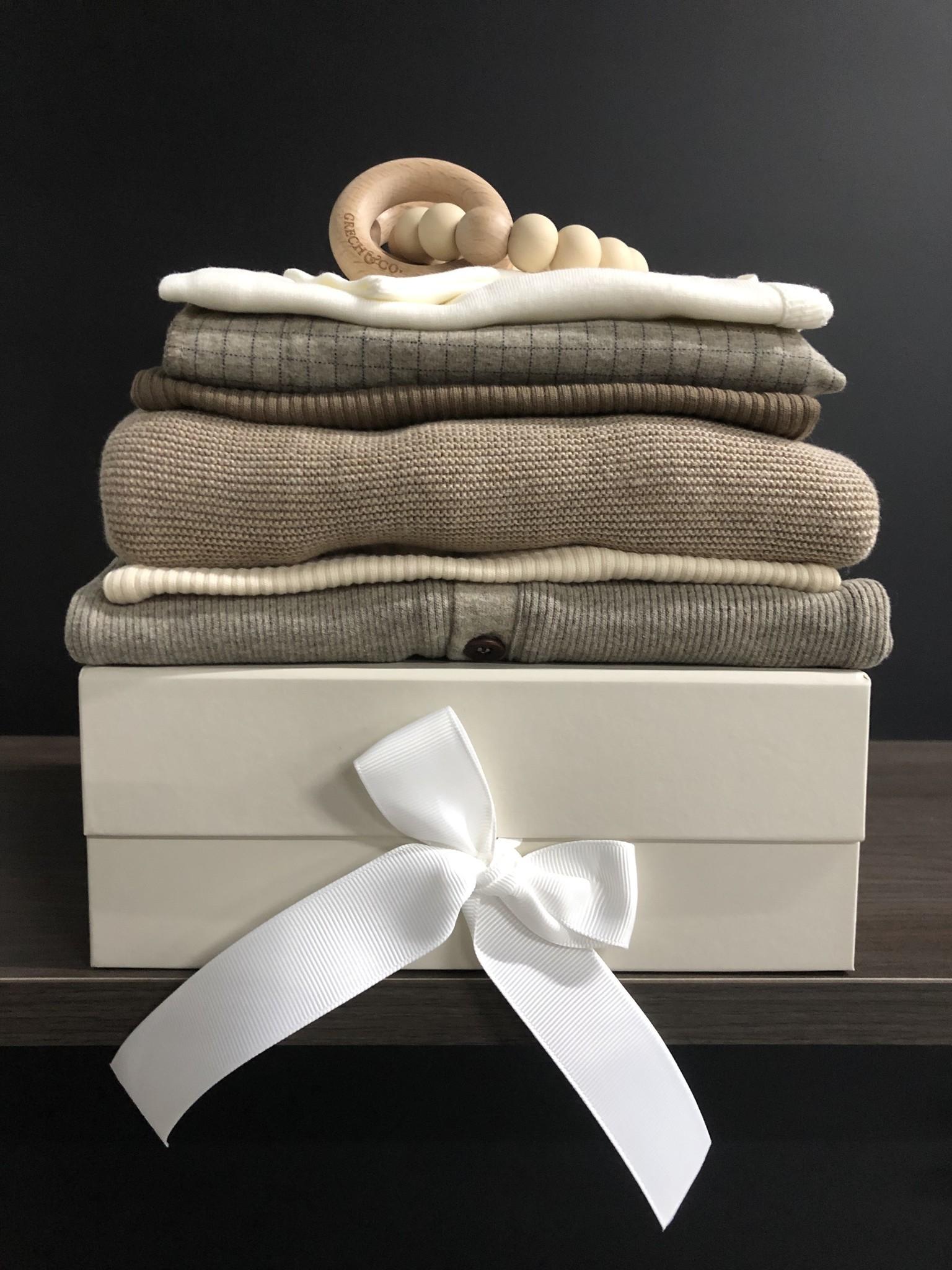 MarMar Copenhagen Newborn Baby Gift Box Gentle White 2 piece (Cadeau set)-2