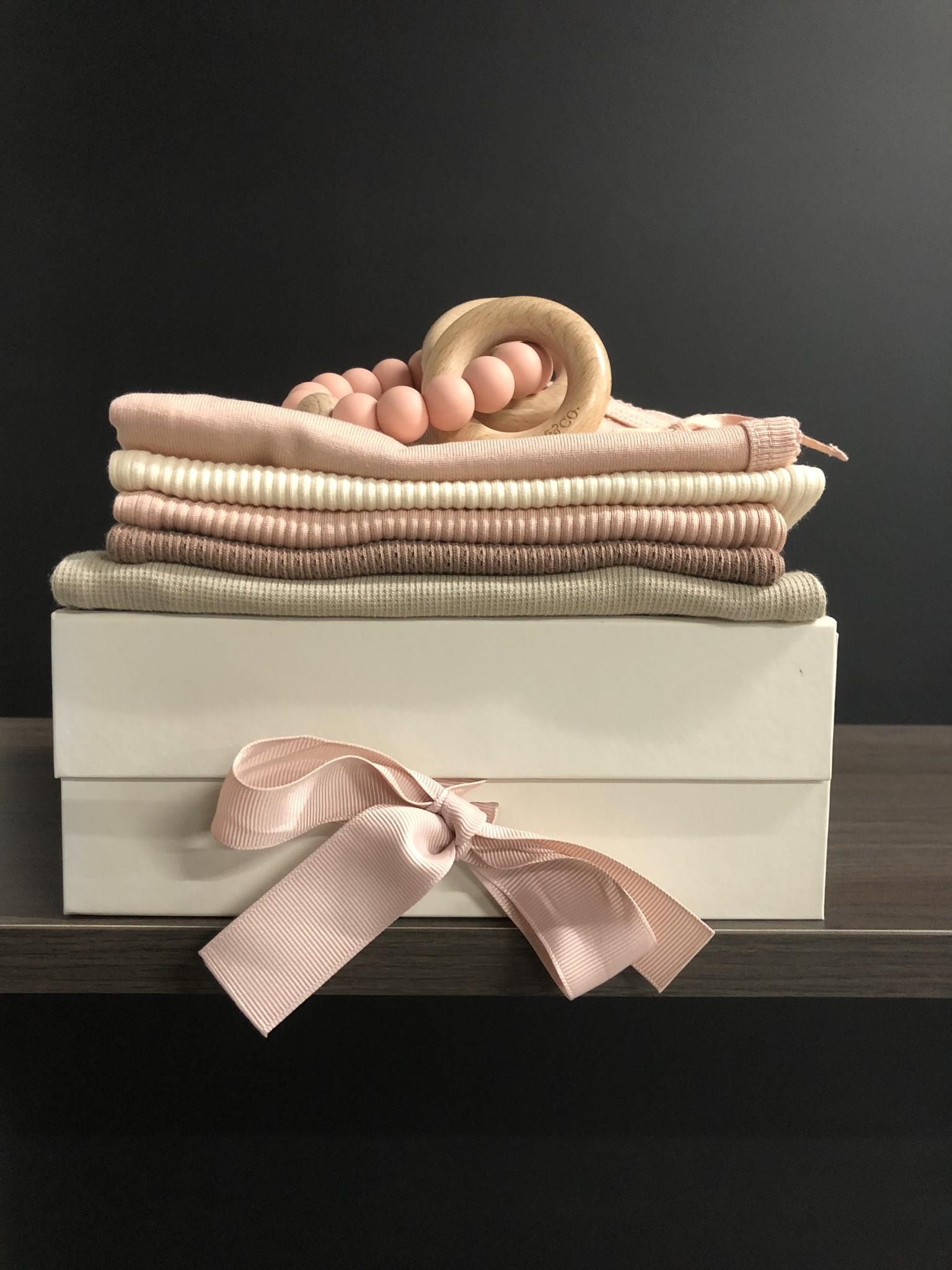 MarMar Copenhagen Newborn Baby Gift Box Rose 2 piece (Cadeau set)-2