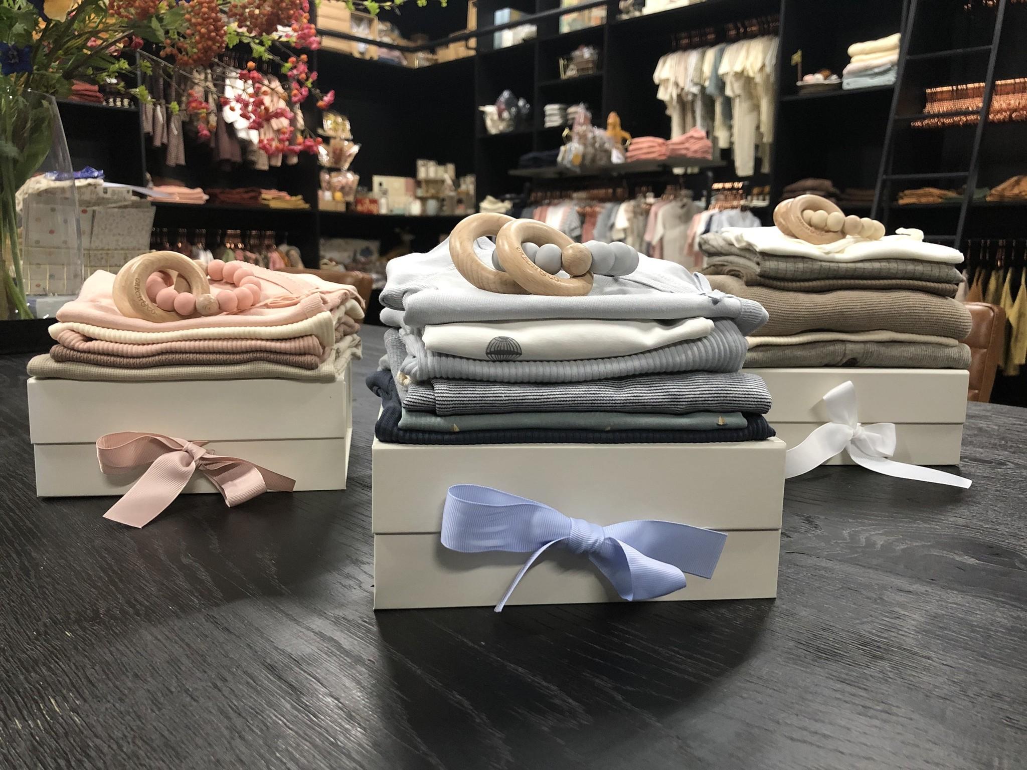 MarMar Copenhagen Newborn Baby Gift Box Pale Blue 2 piece (Cadeau set)-3